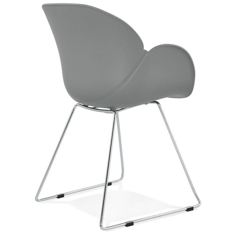 Design chair foot tapered ADELE polypropylene (light gray) - image 36987