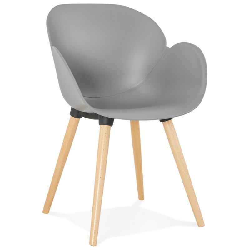 Design chair style Scandinavian LENA polypropylene (light gray) - image 36997