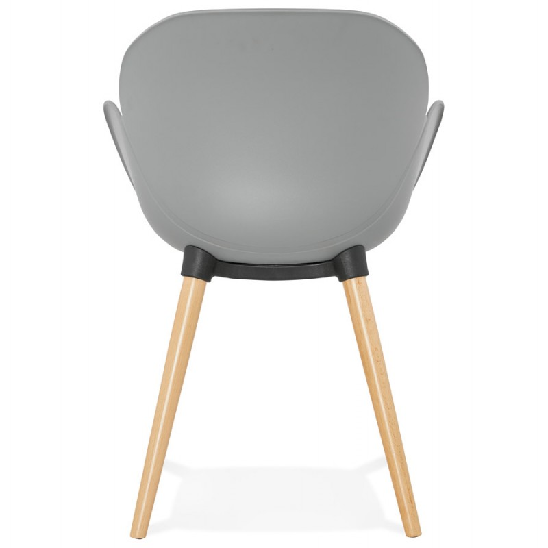 Design chair style Scandinavian LENA polypropylene (light gray) - image 37001