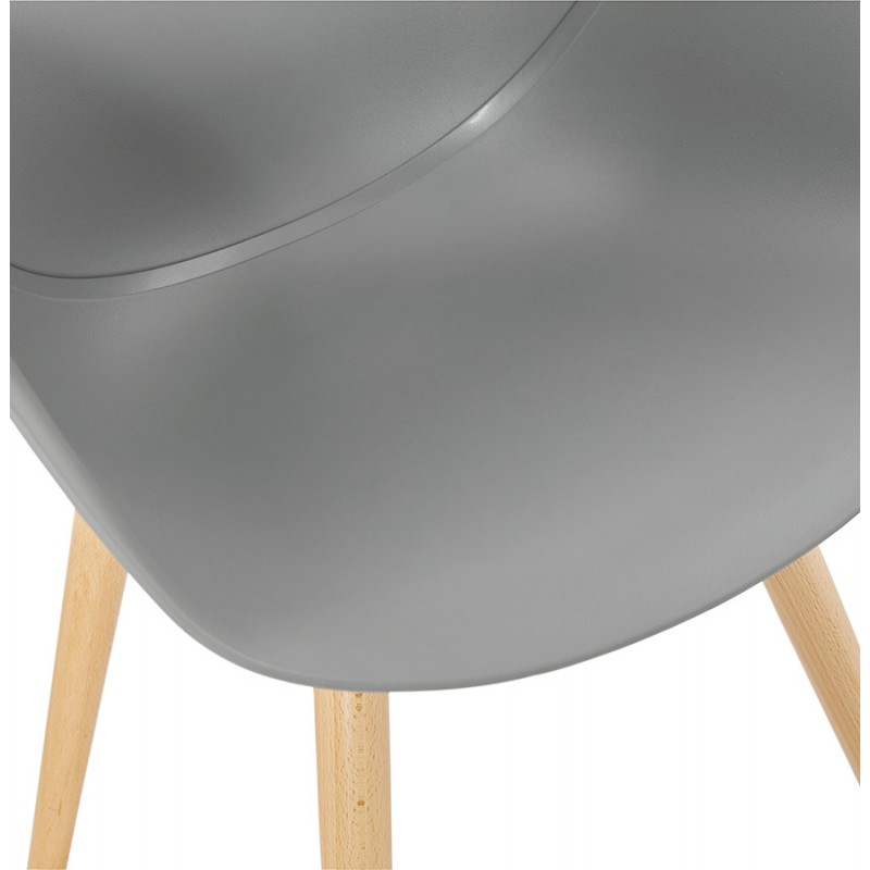 Design chair style Scandinavian LENA polypropylene (light gray) - image 37002