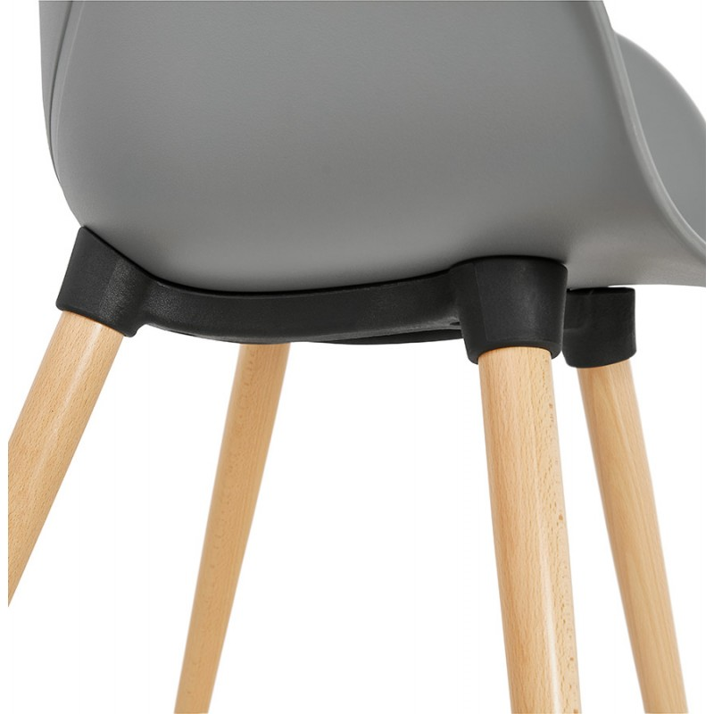 Design chair style Scandinavian LENA polypropylene (light gray) - image 37005