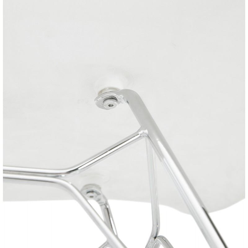 Design chair industrial style TOM polypropylene foot chromed metal (white) - image 37032
