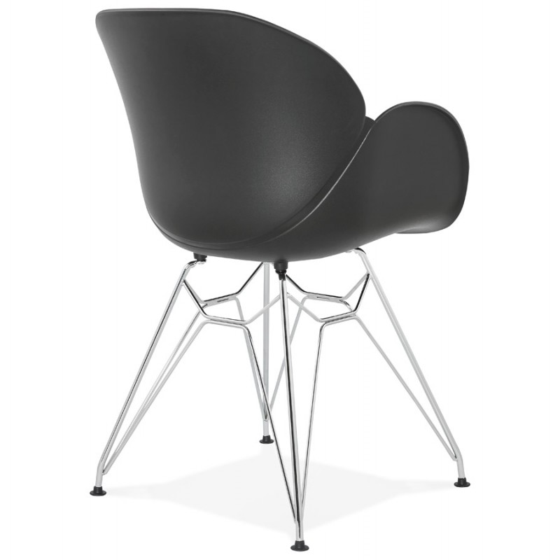 Design chair industrial style TOM polypropylene foot chromed metal (black) - image 37039