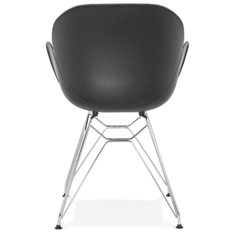 Design chair industrial style TOM polypropylene foot chromed metal (black) - image 37040