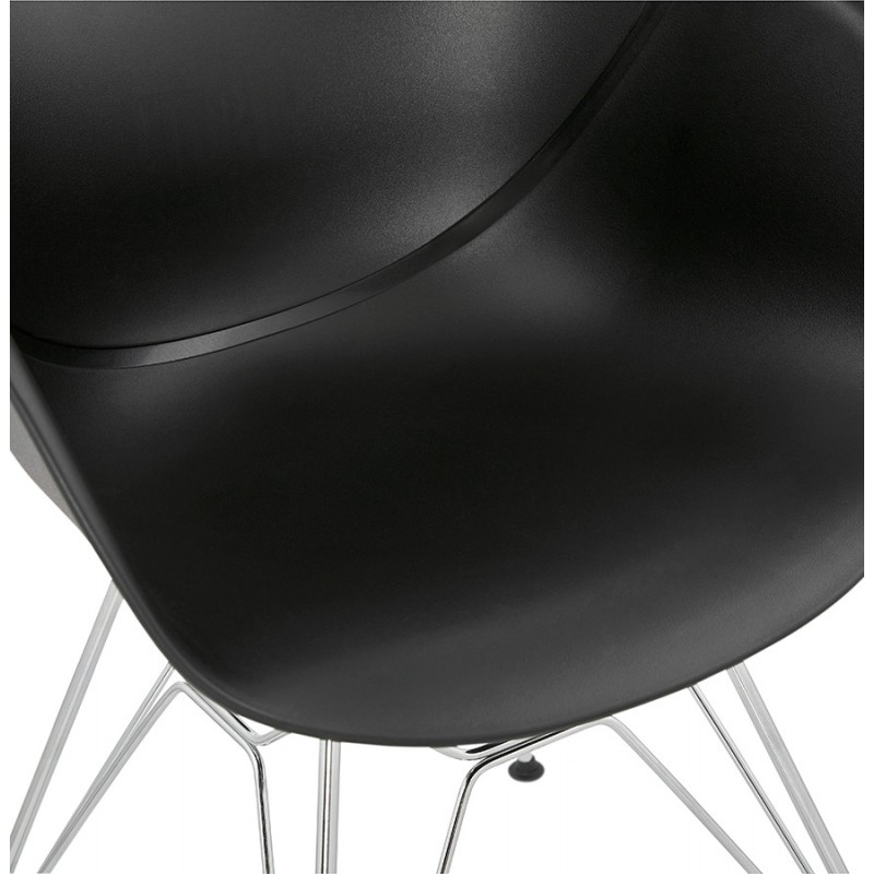 Design chair industrial style TOM polypropylene foot chromed metal (black) - image 37041