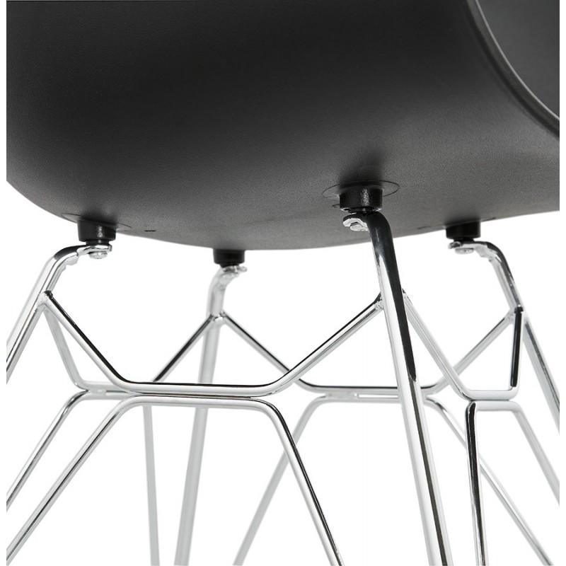 Design chair industrial style TOM polypropylene foot chromed metal (black) - image 37043