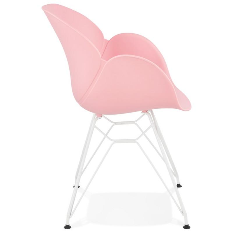 Sedia design e moderno TOM polipropilene piede metallo bianco (cipria) - image 37066