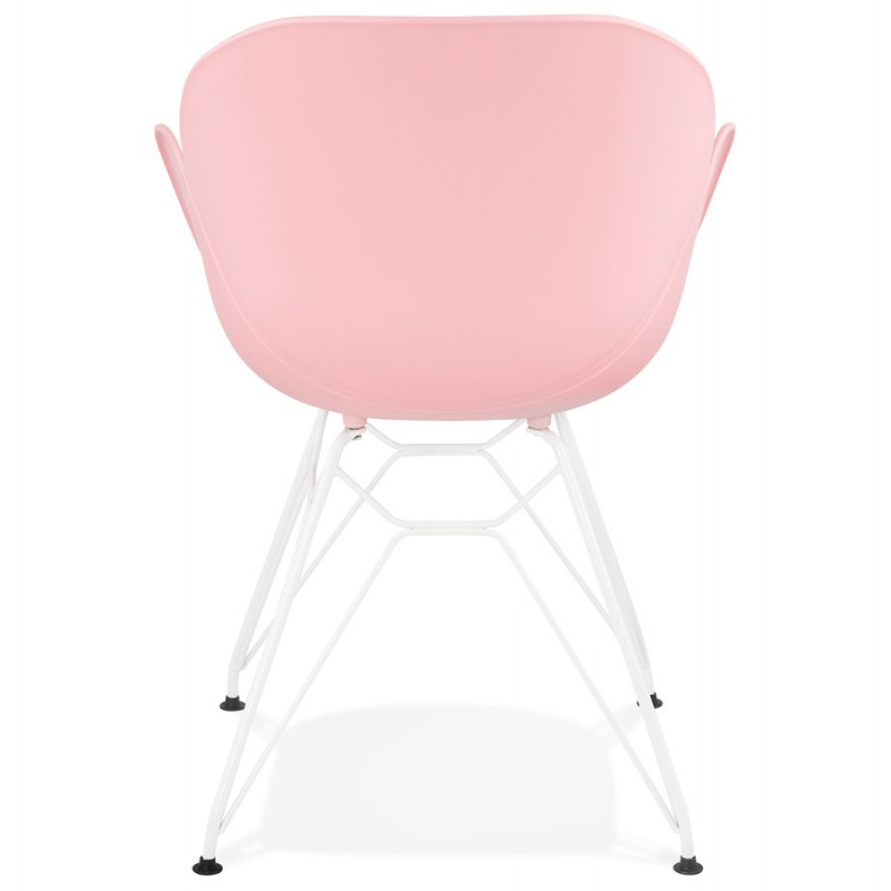 Chair design and modern TOM polypropylene foot white metal (powder pink) - image 37068