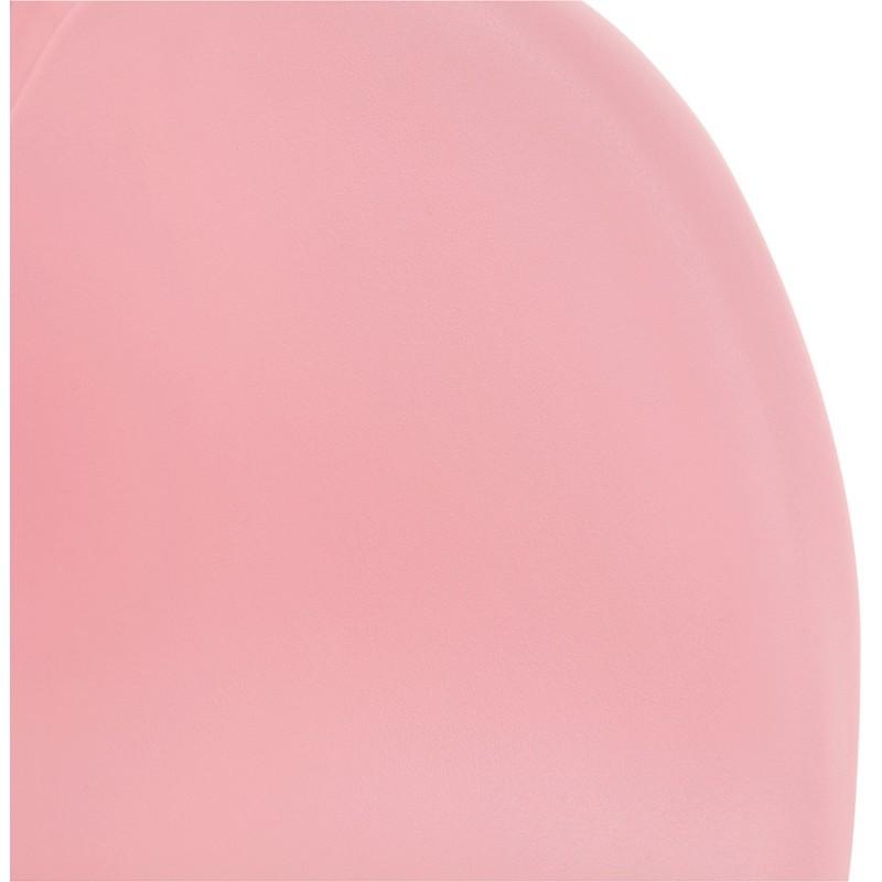 Chaise design et moderne TOM en polypropylène pied métal blanc (rose poudré) - image 37071