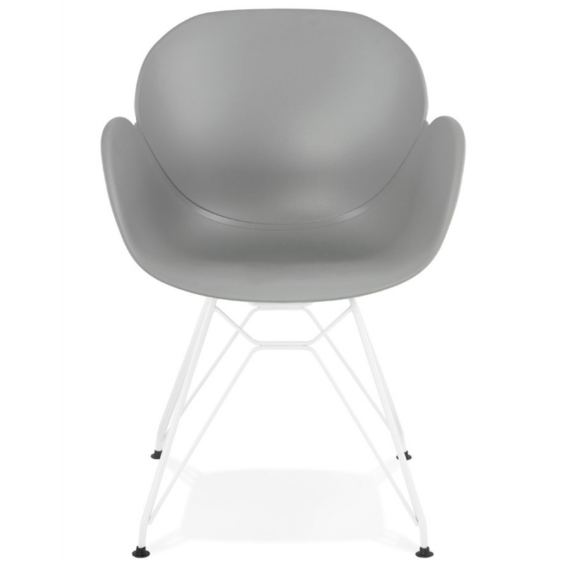 Chair design and modern TOM polypropylene foot white metal (light gray) - image 37088