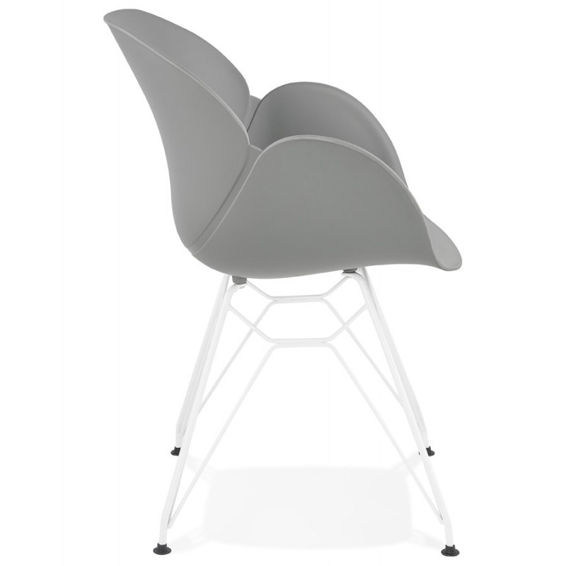 Chair design and modern TOM polypropylene foot white metal (light gray) - image 37089