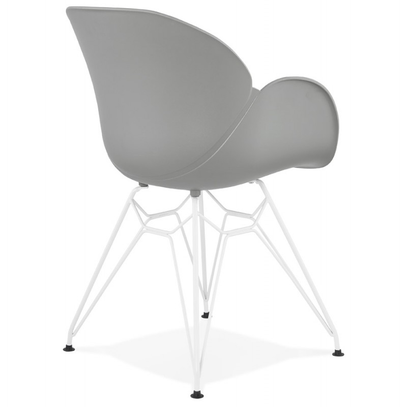 Chair design and modern TOM polypropylene foot white metal (light gray) - image 37090