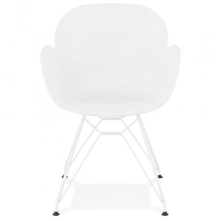 FußweißWeißmetall Amp Polypropylen Design Stuhl Moderne Tom Und Story 5567 0OnwPk