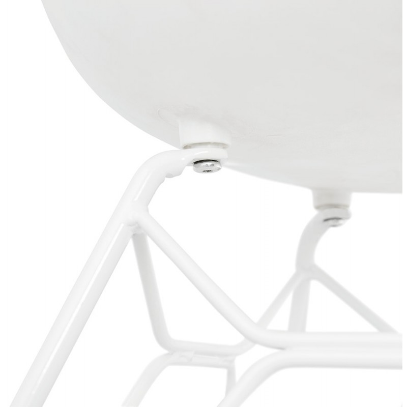 Design chair and moderne TOM polypropylene foot (white) white metal - image 37108