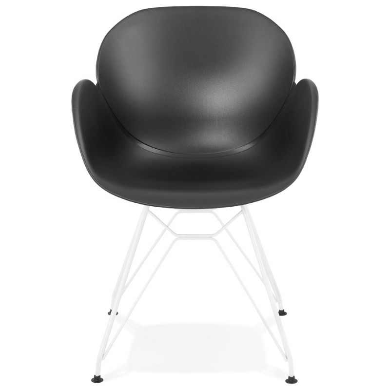 Chair design and modern tom polypropylene foot black for Metal design chair