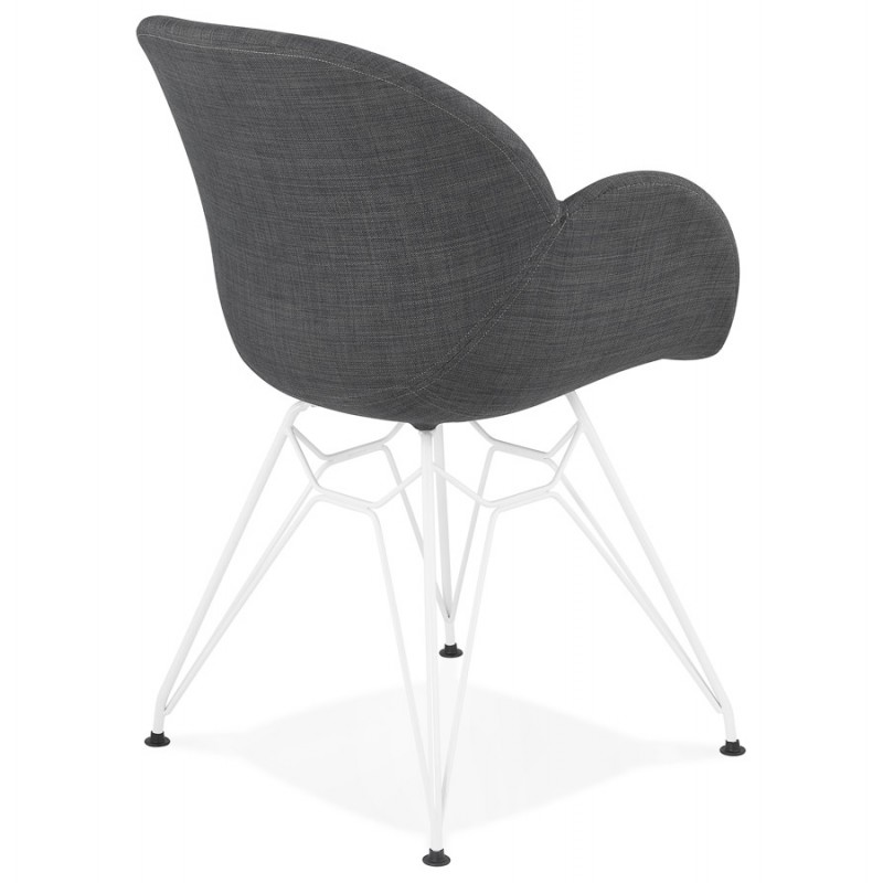 Design chair and TOM modern fabric foot white metal (dark gray) - image 37127