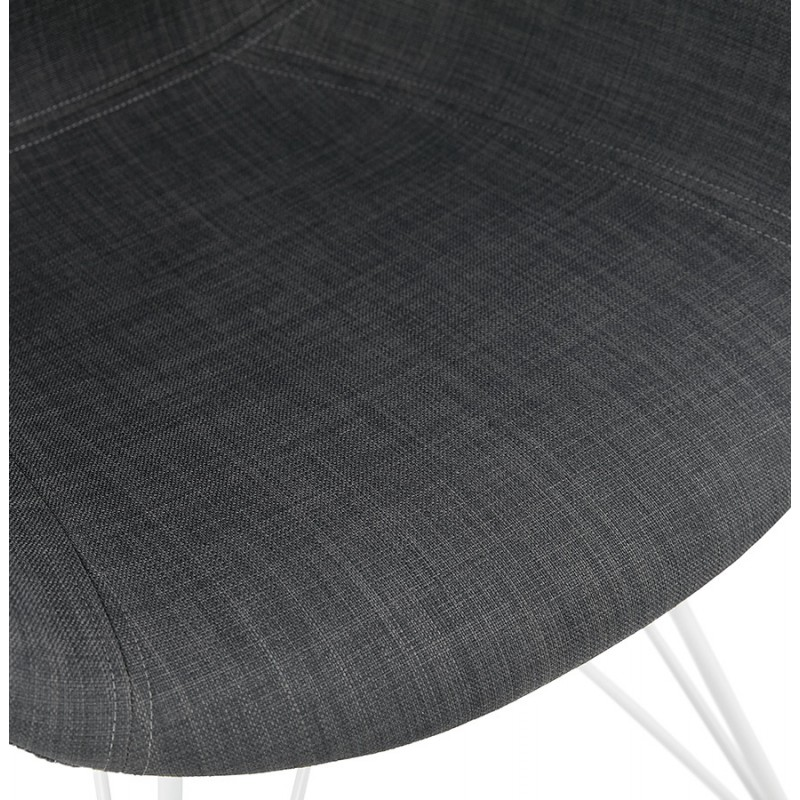 Design chair and TOM modern fabric foot white metal (dark gray) - image 37130