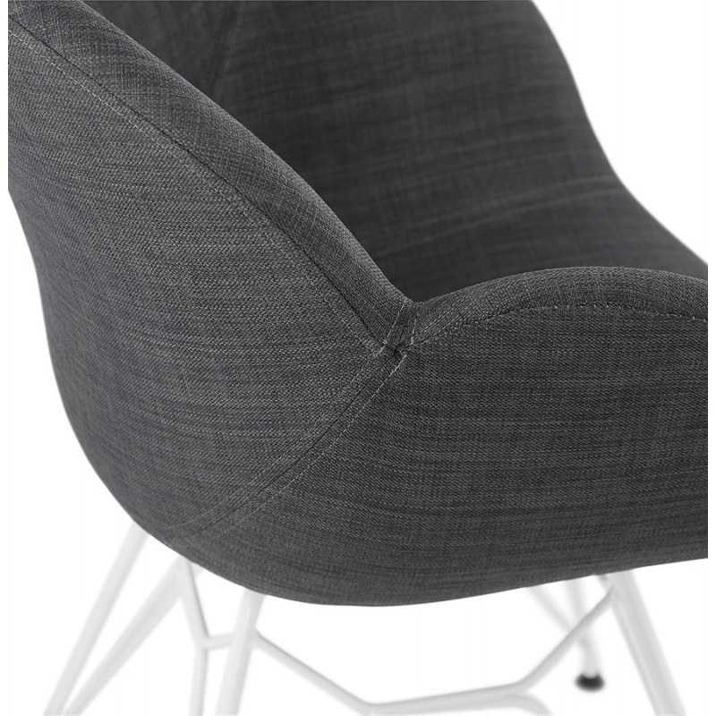 Design chair and TOM modern fabric foot white metal (dark gray) - image 37134