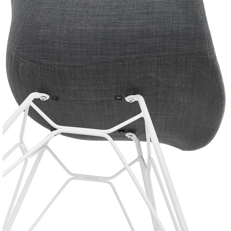 Design chair and TOM modern fabric foot white metal (dark gray) - image 37136
