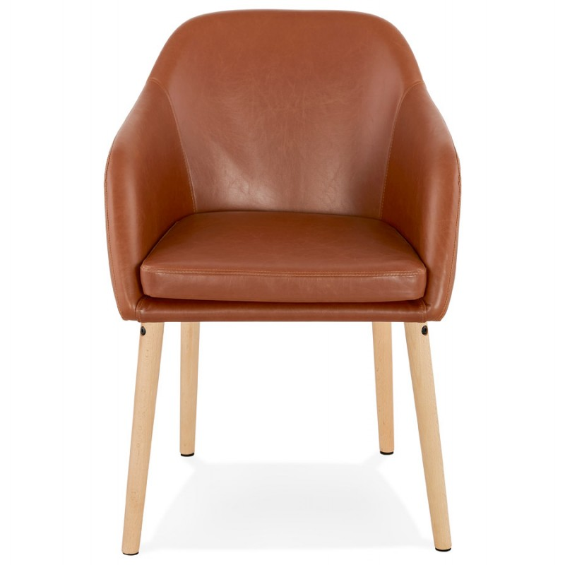 Chair with armrests PABLO (Brown) vintage - image 37140
