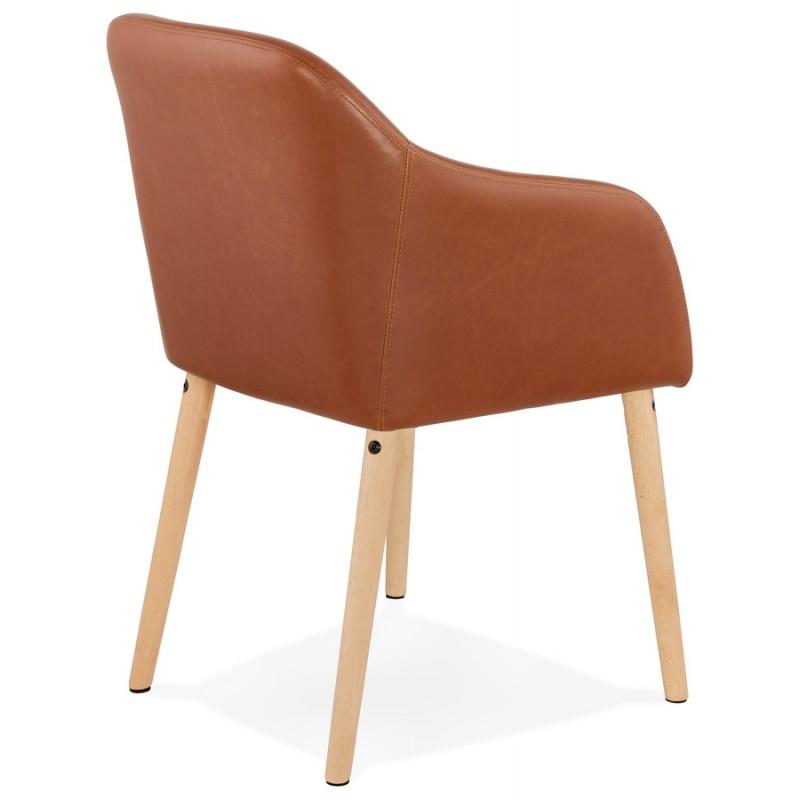 Sedia con braccioli vintage PABLO (marrone) - image 37142
