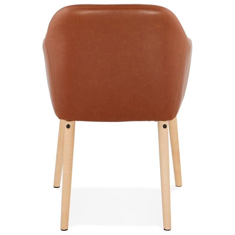 Chair with armrests PABLO (Brown) vintage - image 37143