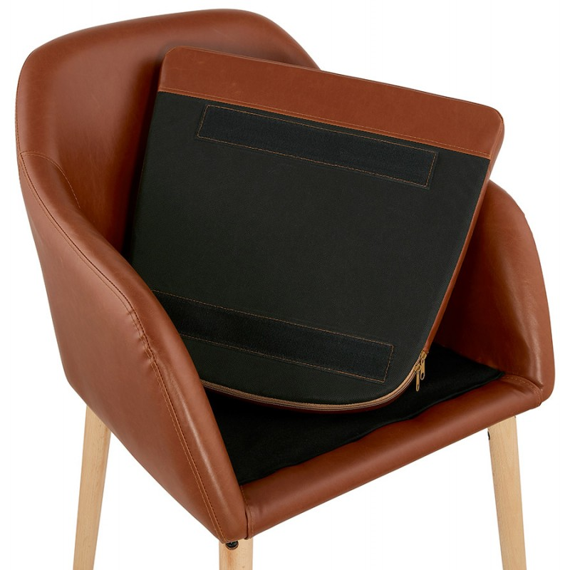 Chair with armrests PABLO (Brown) vintage - image 37149