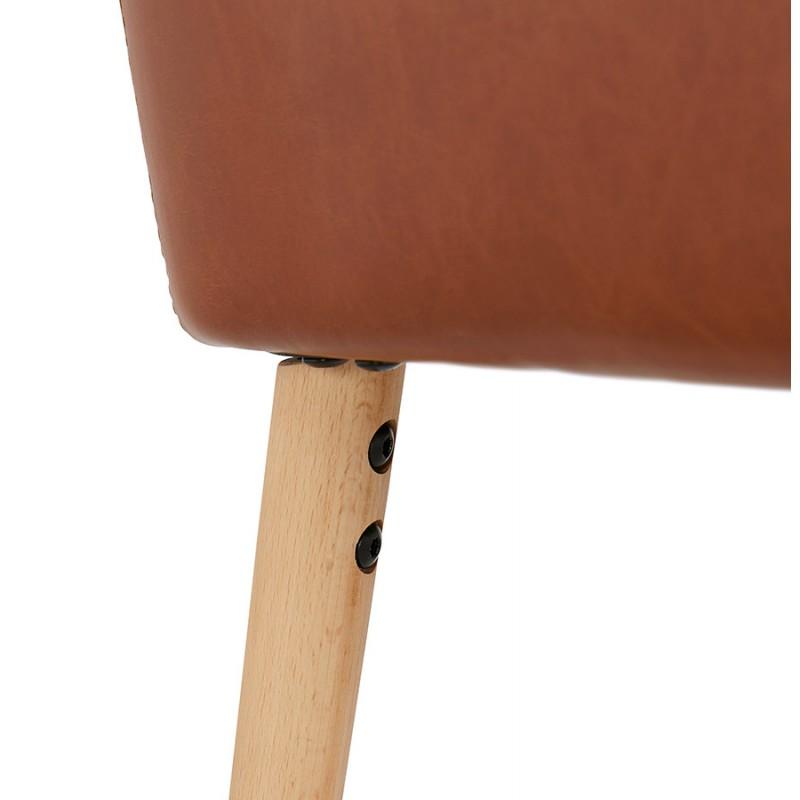 Fauteuil vintage avec accoudoirs PABLO (marron) - image 37150