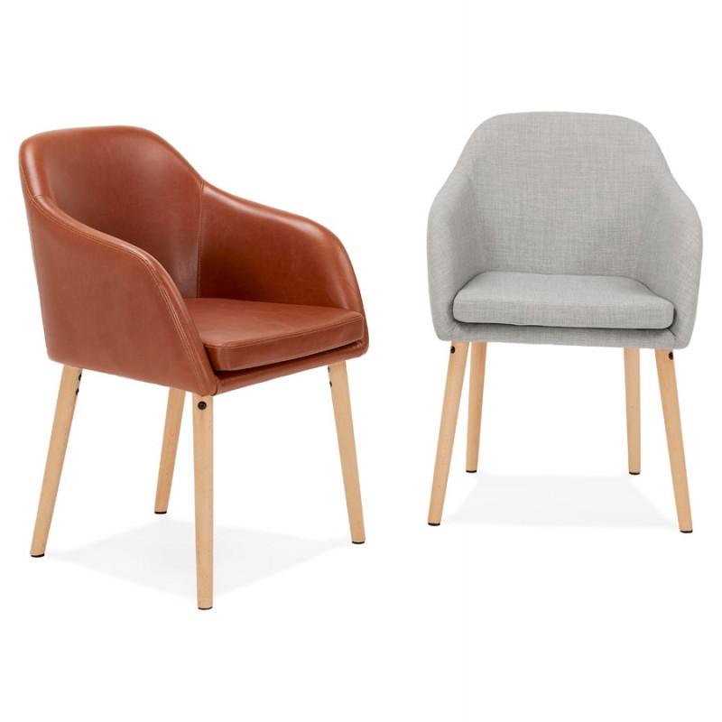 Sedia con braccioli vintage PABLO (marrone) - image 37152
