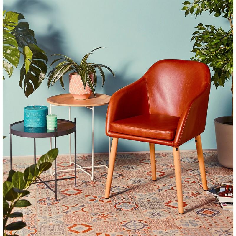 Sedia con braccioli vintage PABLO (marrone) - image 37153