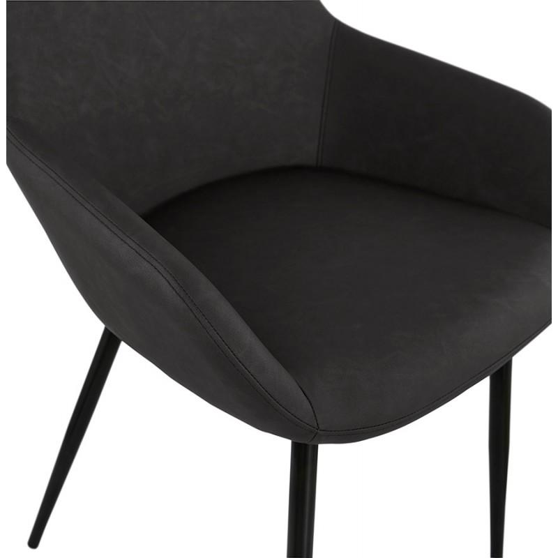 Silla de dise o y moderno shela gris oscuro for Sillas diseno moderno