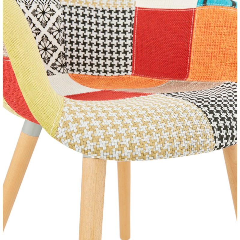 Design chair and Bohemia patchwork with armrests Ophelia in fabric (multicolor) - image 37189