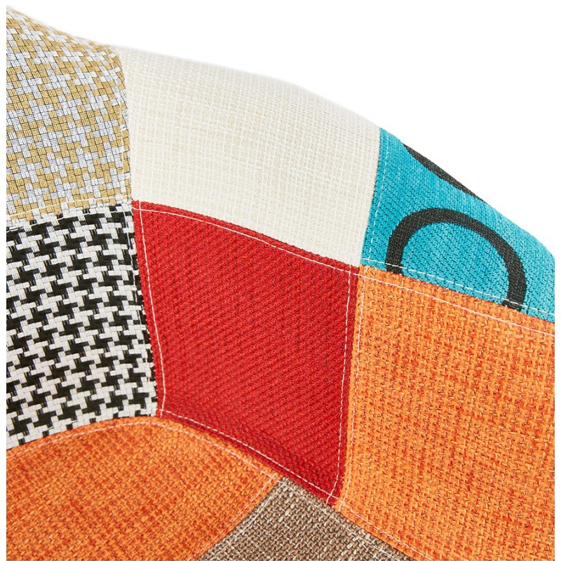 Design chair and Bohemia patchwork with armrests Ophelia in fabric (multicolor) - image 37192