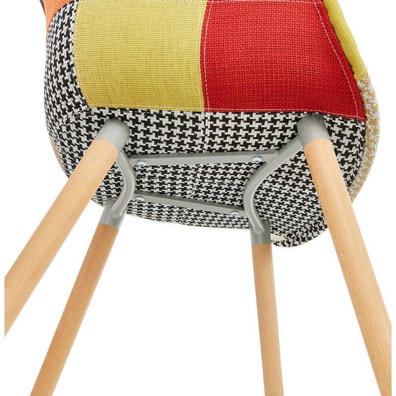 Design chair and Bohemia patchwork with armrests Ophelia in fabric (multicolor) - image 37197