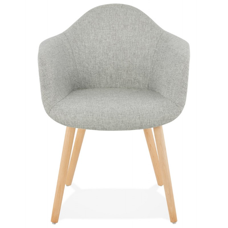 Scandinavian design chair with armrests Ophelia in fabric (light gray) - image 37201