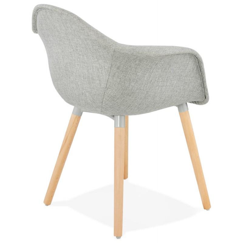 ClairChaises Avec En Scandinave Design Ophelie Tissugris Accoudoirs Chaise dxBoCQreEW