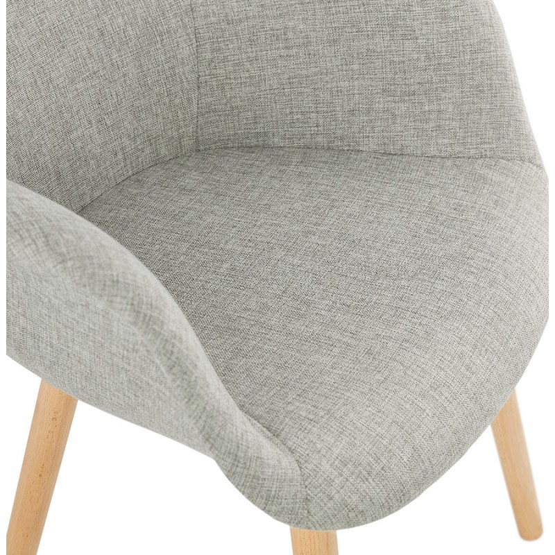 Scandinavian design chair with armrests Ophelia in fabric (light gray) - image 37205