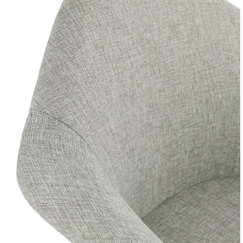 Scandinavian design chair with armrests Ophelia in fabric (light gray) - image 37208