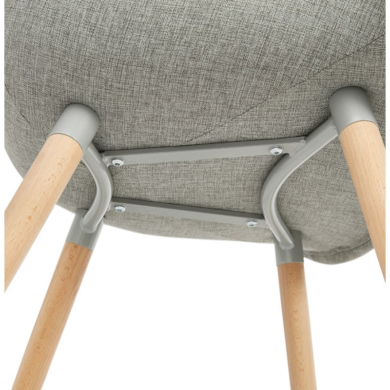 Scandinavian design chair with armrests Ophelia in fabric (light gray) - image 37211
