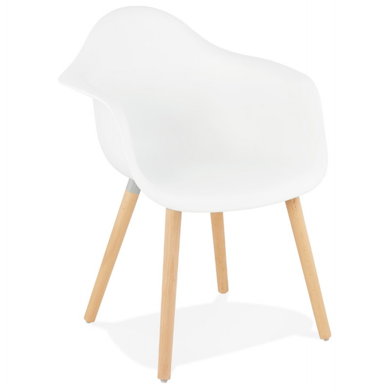 Scandinavian design chair with armrests Ophelia polypropylene (white) - image 37356