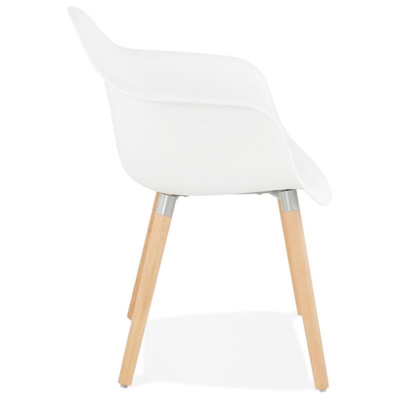 Sedia design scandinavo con polipropilene di braccioli Ophelia (bianco) - image 37358