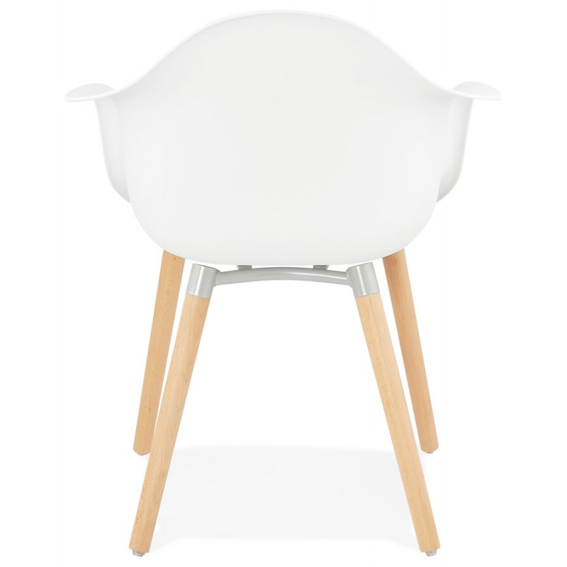 Scandinavian design chair with armrests Ophelia polypropylene (white) - image 37360