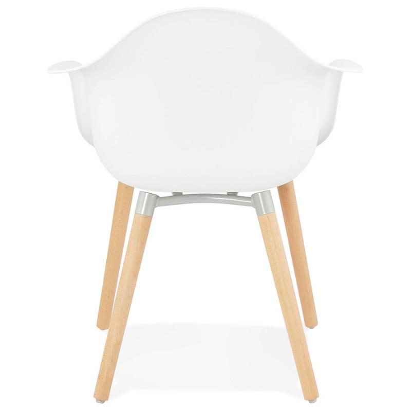 Skandinavisches Designstuhl mit Armlehnen Ophelia Polypropylen (weiß) - image 37360