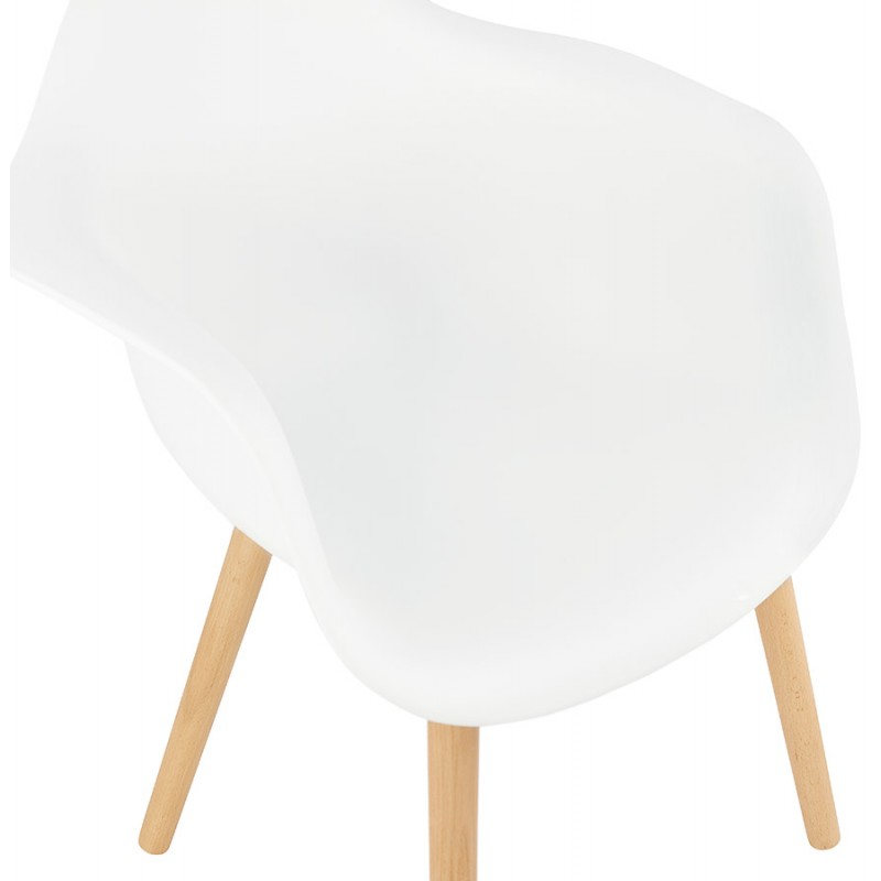 Scandinavian design chair with armrests Ophelia polypropylene (white) - image 37361
