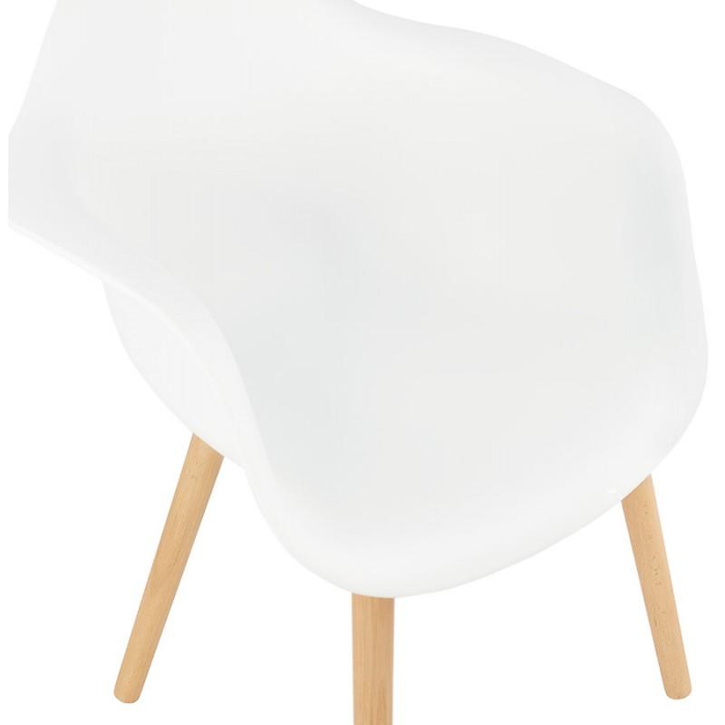 Sedia design scandinavo con polipropilene di braccioli Ophelia (bianco) - image 37361