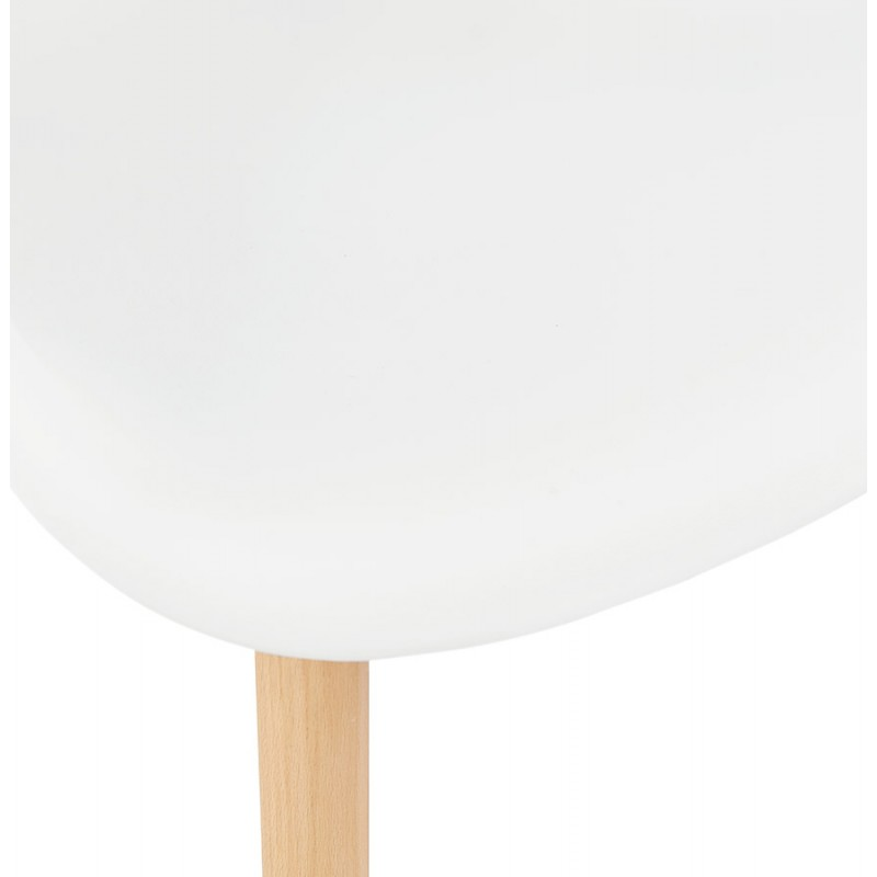 Sedia design scandinavo con polipropilene di braccioli Ophelia (bianco) - image 37362