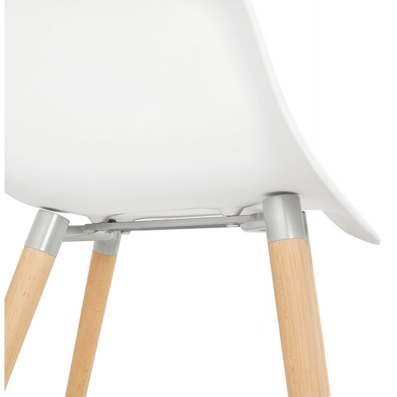 Scandinavian design chair with armrests Ophelia polypropylene (white) - image 37364
