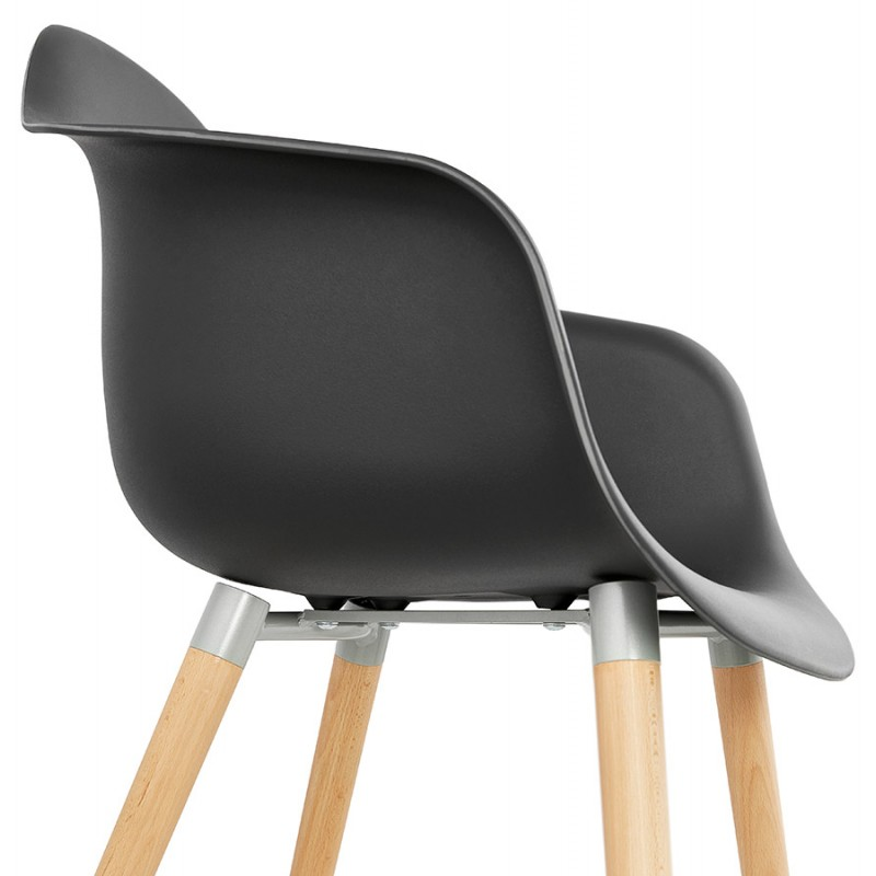 Scandinavian design chair with armrests Ophelia polypropylene (black) - image 37377