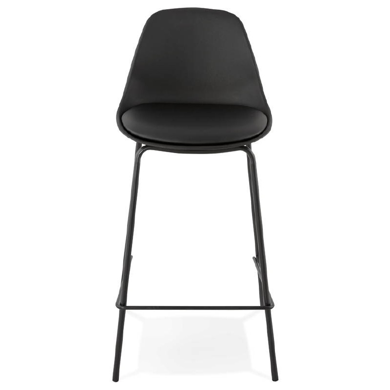 Bar bar halfway up industrial OCEANE MINI (black) chair stool - image 37383