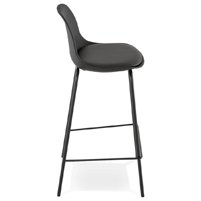 Bar bar halfway up industrial OCEANE MINI (black) chair stool - image 37384